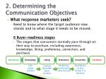2 determining the communication objectives