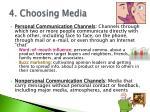 4 choosing media