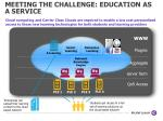 meeting the challenge education as a service