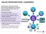 value proposition learners