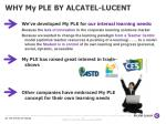 why my ple by alcatel lucent