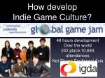 how develop indie game culture