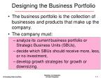designing the business portfolio