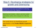 step ii developing strategies for growth and downsizing
