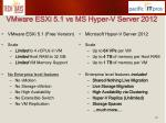 vmware esxi 5 1 vs ms hyper v server 2012