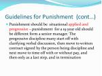 guidelines for punishment cont1