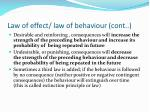 law of effect law of behaviour cont
