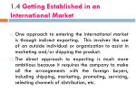1 4 getting established in an international market
