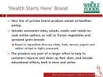 health starts here brand