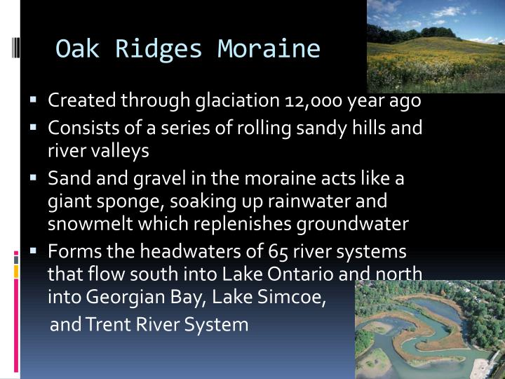 the oak ridges moraine Oak ridges moraine conservation plan the oak ridges moraine conservation plan is set out in o reg 140/02 under the oak ridges moraine conservation act, 2001.