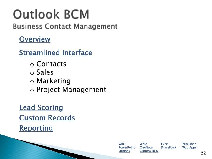 Outlook BCM