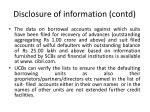 disclosure of information contd