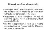 diversion of funds contd