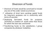 diversion of funds