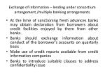 exchange of information lending under consortium arrangement multiple banking arrangements