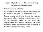important guidelines of rbi on monitoring operations in loan accounts
