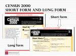 census 2000 short form and long form