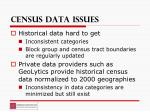 census data issues