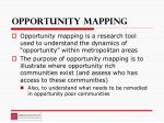 opportunity mapping