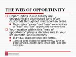 the web of opportunity