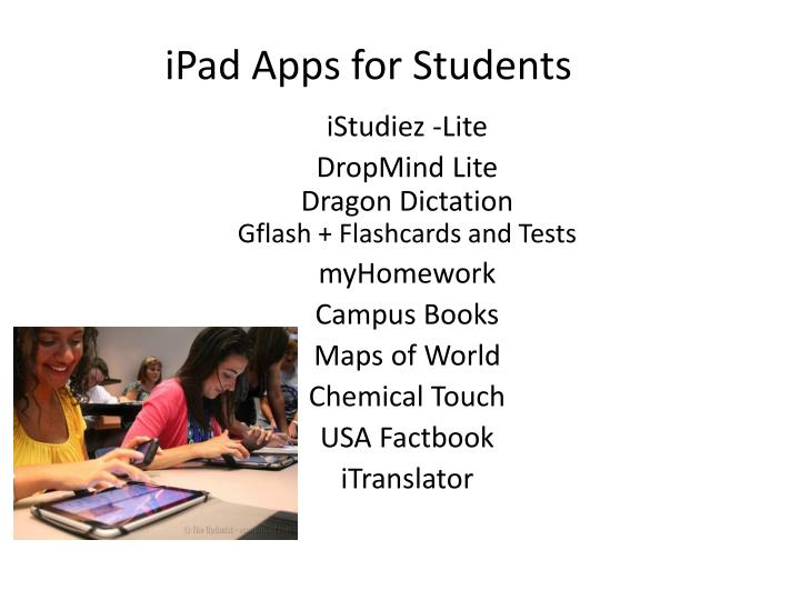 ipad apps for students n.