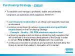 purchasing strategy vision