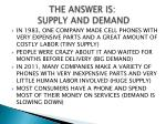 the answer is supply and demand1