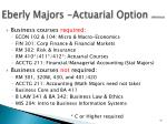 eberly majors actuarial option reference