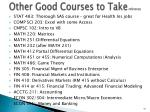 other good courses to take reference