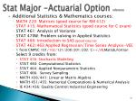 stat major actuarial option reference