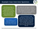 example case interview questions