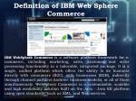 definition of ibm web sphere commerce