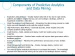 components of predictive analytics and data mining