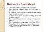basics of the stock market