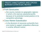 profit sanctuaries and cross border strategic moves