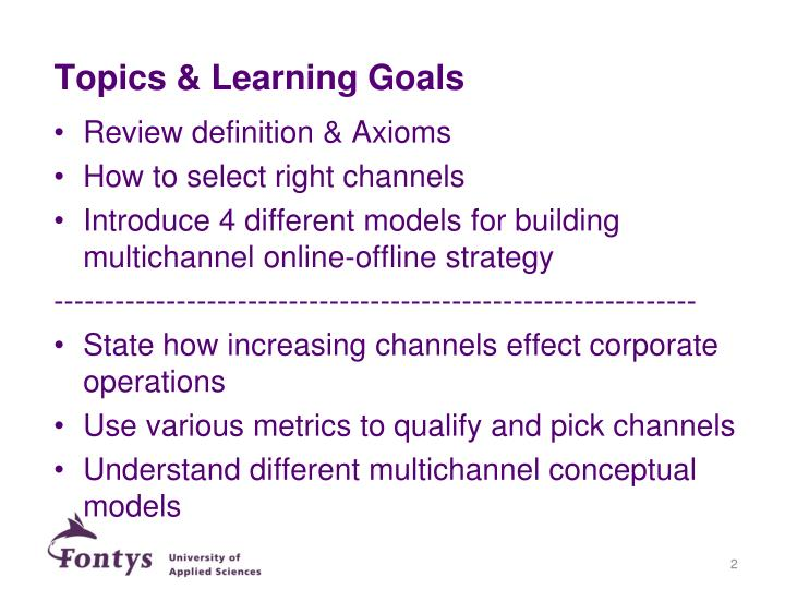 Topics & Learning Goals