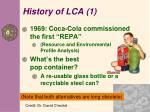 history of lca 1