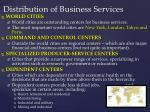distribution of business services