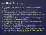 non basic activities