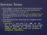 services terms