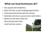 what can local businesses do