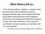 what history tell us