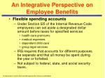 an integrative perspective on employee benefits1
