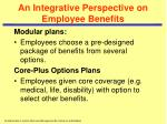 an integrative perspective on employee benefits2