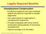 legally required benefits1
