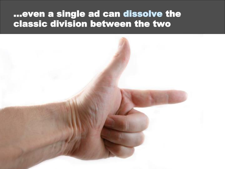 …even a single ad can
