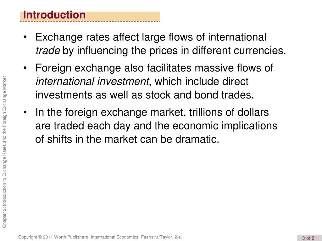 Exchange Rates And The Foreign