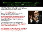 rational expectations real business cycles and new classical macroeconomics1
