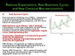 rational expectations real business cycles and new classical macroeconomics2