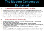 the modern consensus explained1